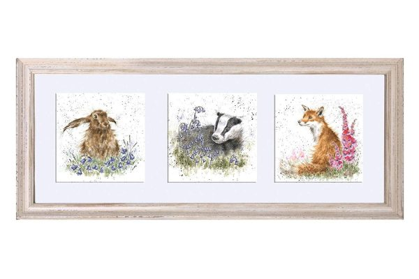 a trio of woodland flora and fauna wrendale designs