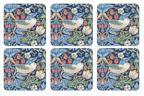 pimpernel strawberry thief coasters