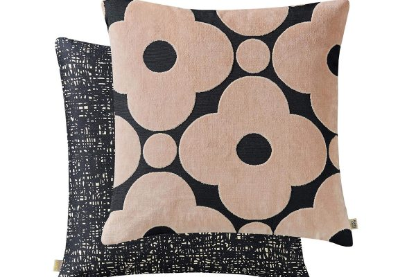 orla kiely spot flower tea rose cushion