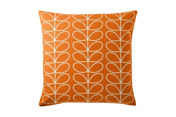 Linear-Stem-Large-Cushion-Persimmon-50x50cm-Front