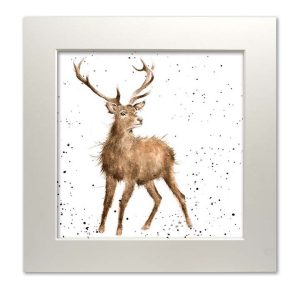 stag mounted print wrendale
