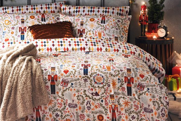 nutcracker christmas duvet set by paoletti