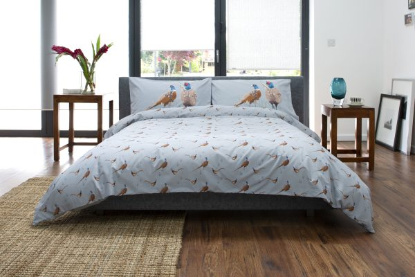 deyongs pheasant duvet cover grey