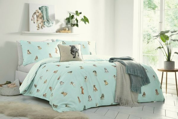 wrendale bedding a dogs life duvet cover set