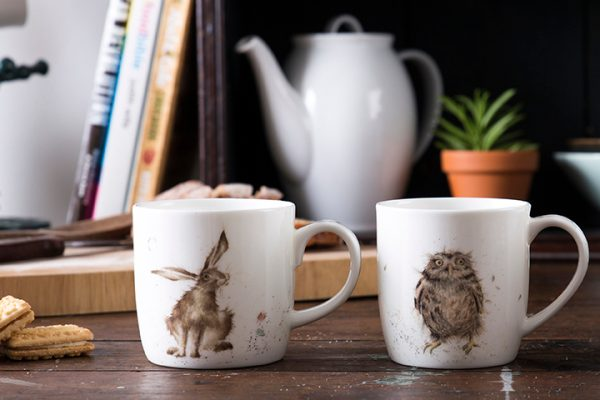 wrendale single mugs by royal worcester