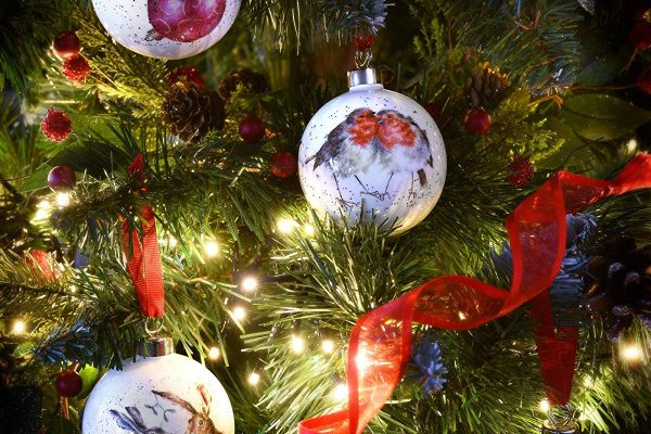 wrendale fine bone china christmas baubles