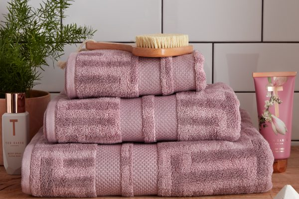 ted baker tessellating t towel dusky pink