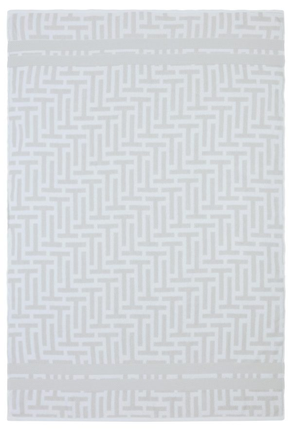 ted baker tessellating t towel white