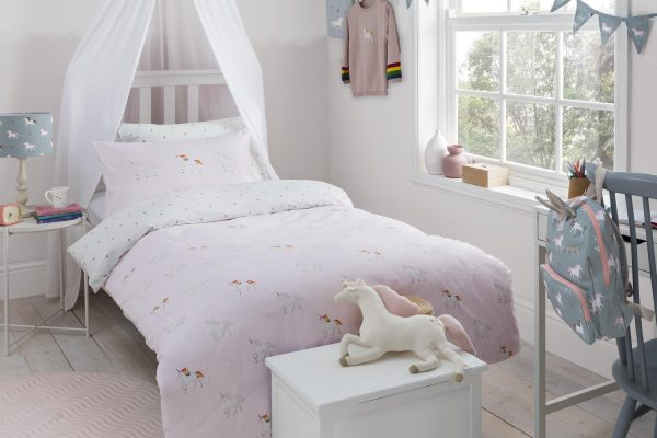 Sophie Allport Unicorn Pink Dust Duvet Cover Set