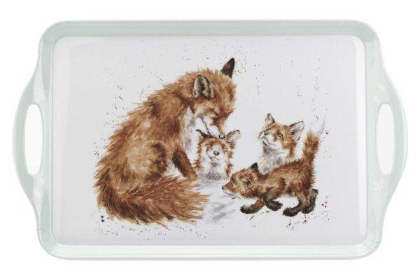 Wrendale-Designs-Portmeirion-Large-Handled-Serving-Tray-Fox-Design-B0855R4FV6
