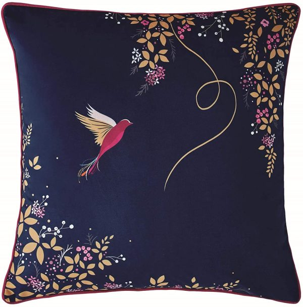 sara miller hummingbird navy cushion