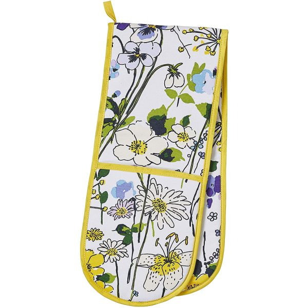 ulster weavers wildflowers cotton double oven glove