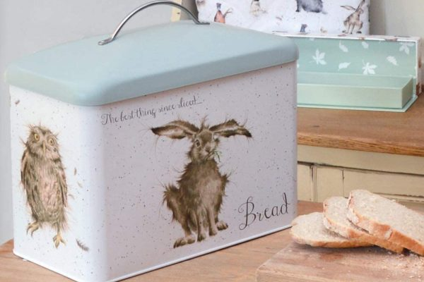 wrendale designs bread bin and country kitchen tin range