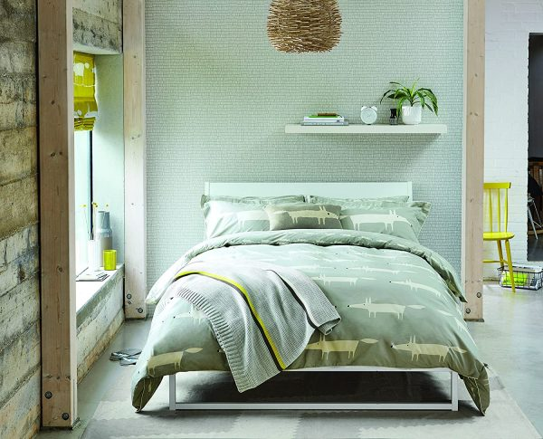 scion mr fox silver bedding range