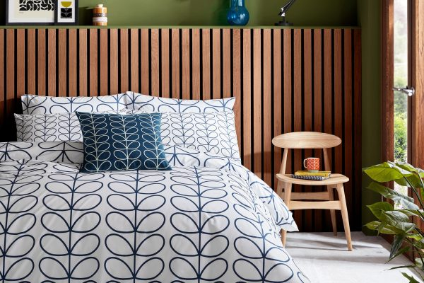 Orla Kiely Whale Linear Stem Bedding