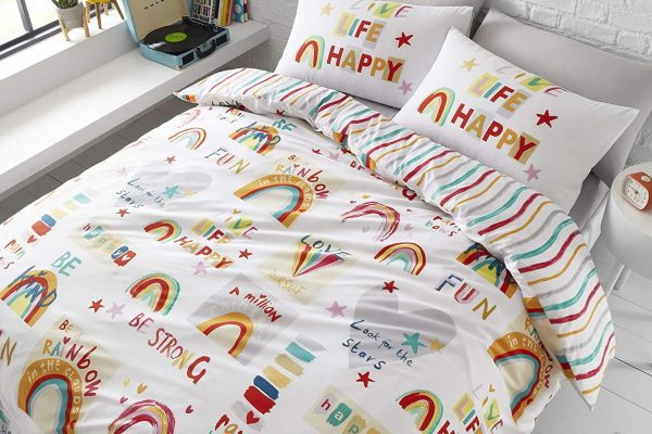 Be A Rainbow Multi Duvet Cover Set Catherine Lansfield
