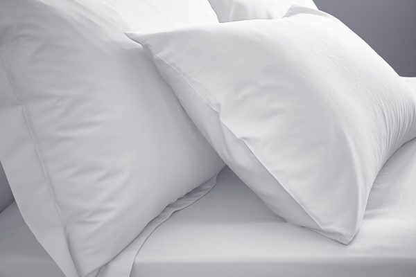 extra Deep Fitted Sheet White 200TC PLAIN DYE WHITE IMAGE 1