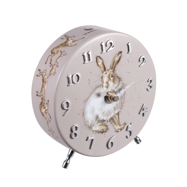wrendale designs mantel clock hare
