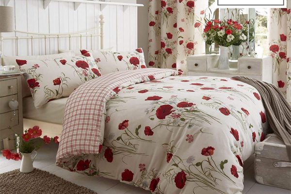wild poppies duvet cover set catherine lansfield
