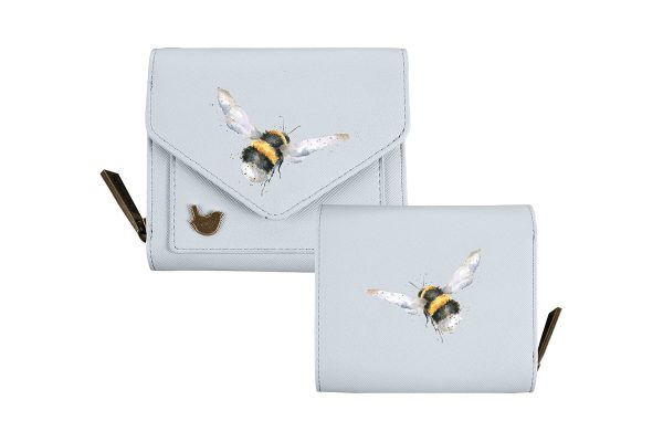 wrendale small bee purse front and back