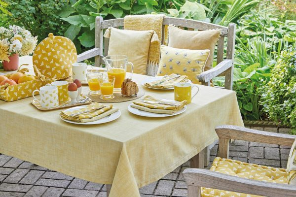 Bee Ochre Lifestyle with Chambray Saffron