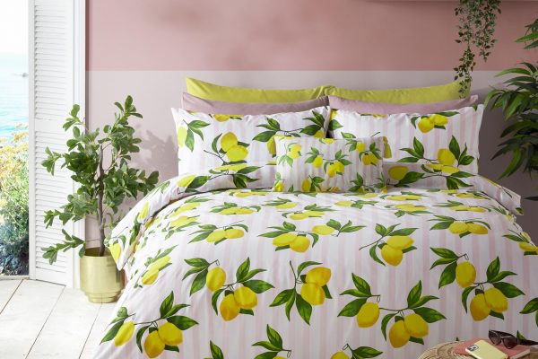 Skinny Dip Summer Lemon Duvet Cover Set