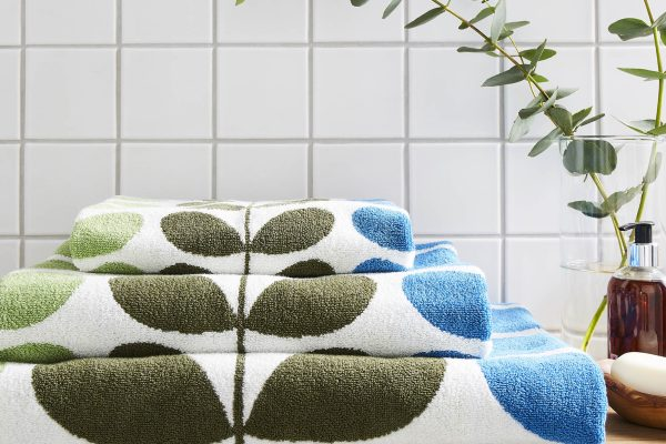 Trio Stem RivieraTowels by orla kiely