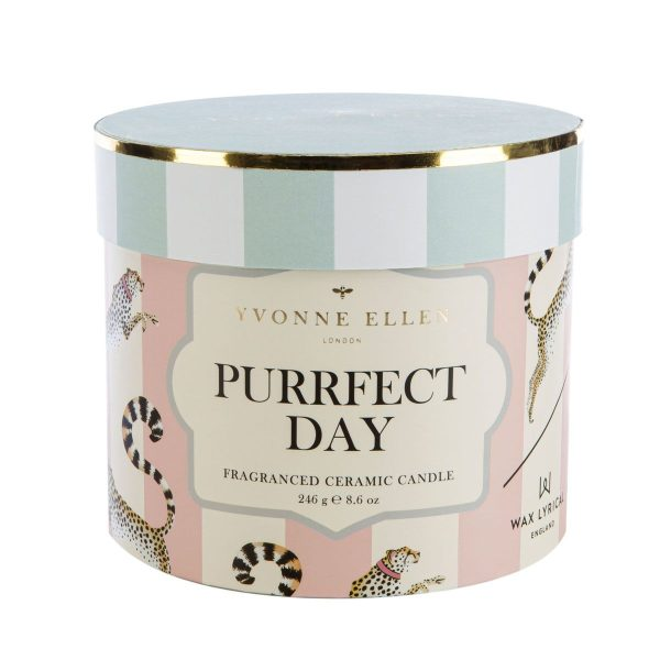 Yvonne Ellen Purrfect Day Ceramic Candle Outer