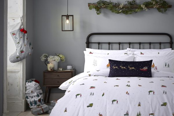 Home for Christmas duver cover set by Sophie Allport