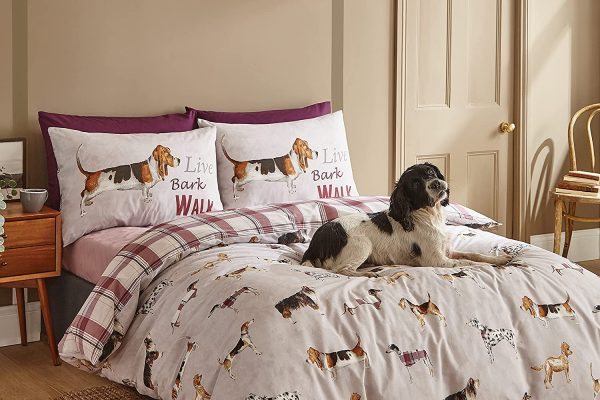country dogs duvet cover set by catherine lansfield