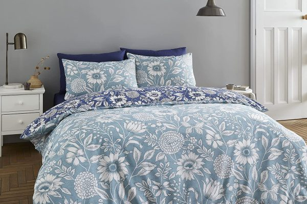 tapestry Floral Duvet Cover Set blue by Catherine Lansfield