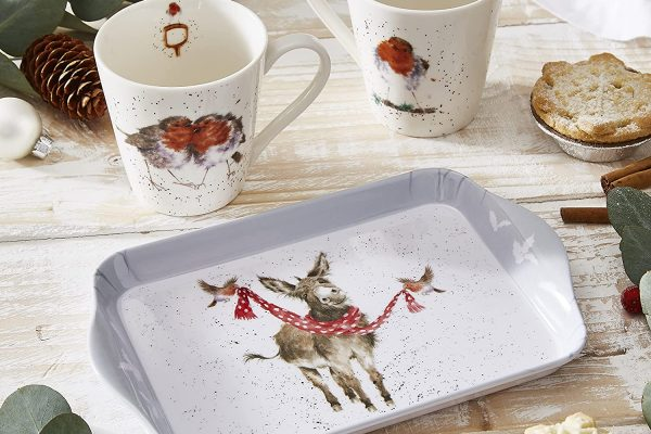 winter friends mug and tray set by wrendale