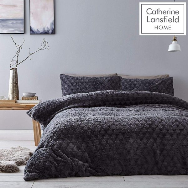 catherine lansfield soft touch faux fur bedding