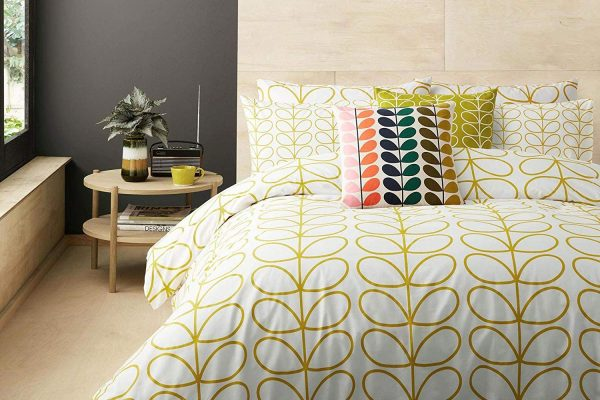 orla kiely linear stem dandelion bedding