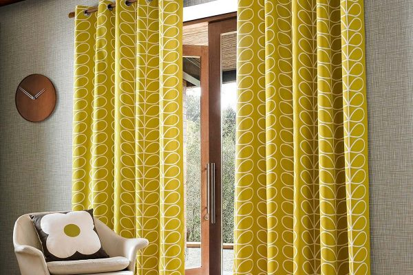 orla kiely linear stem dandelion curtains