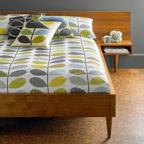 orla kiely scribble stem duckegg and seagrass