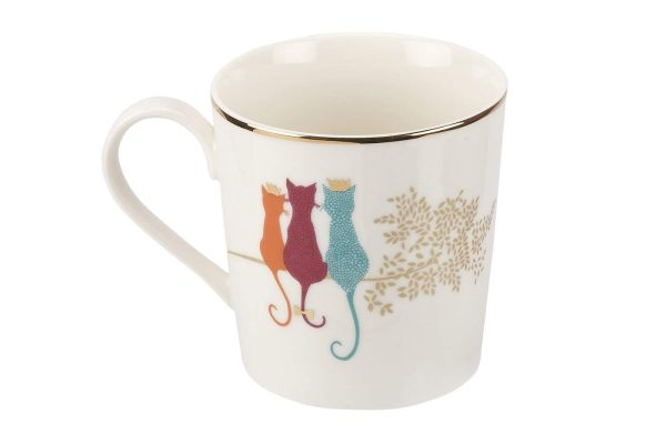 sara miller feline friends mug by portmeirion