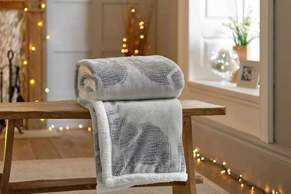 Sherpa-Reverse-Supersoft-Throw-in-Grey-with-Elephant-Design-140cm-x-180cm
