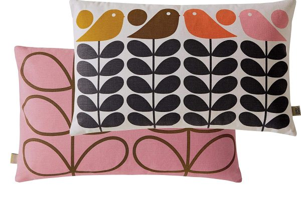 orla kiely early bird summer cushion