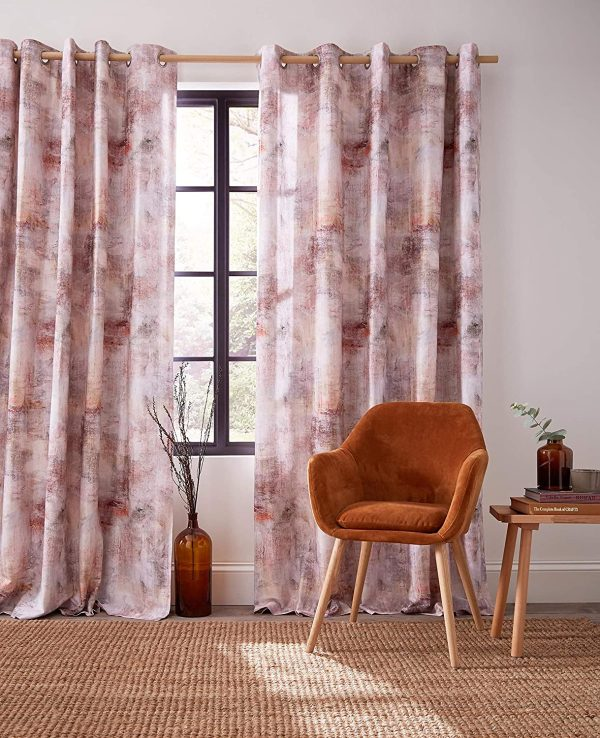 Voyage-Maison-Monet-Amber-Pink-Watercolour-Designer-Eyelet-Lined-Curtains-B08L3THNVF