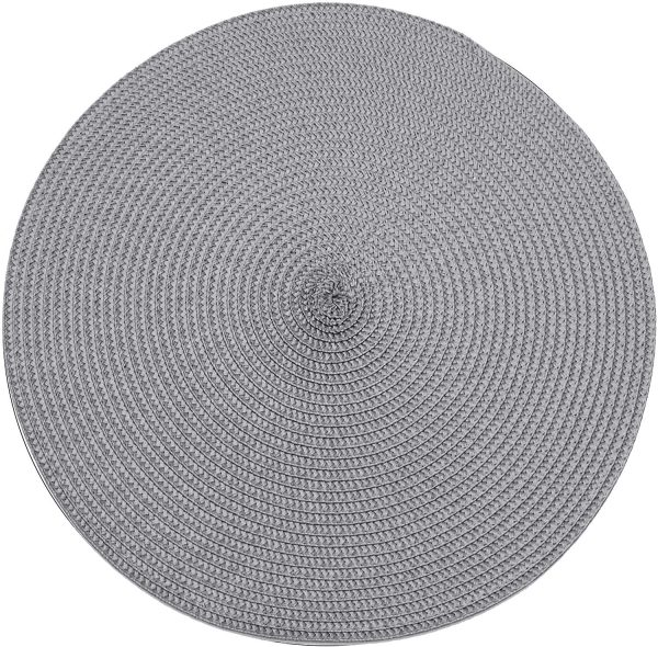 walton & co ribbed tablemat in grey